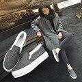 2016 Marca de Jeans Mulheres Buraco Rasgado Do Vintage Primavera Verão Sapatos de Lona Femininos Plataforma Loafers Estudantes Sapatos Casuais Mulheres