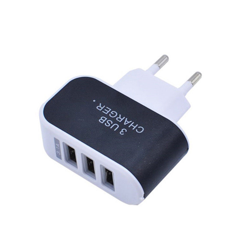 USB Charger Adapter 3 Ports 3.1A Triple USB Port Wall Home Travel AC Charger Adapter EU US Plug Mobile Phone Charger original xiaomi 4 usb ports 7a us plug wall charger for cellphone tablet camera powerbank