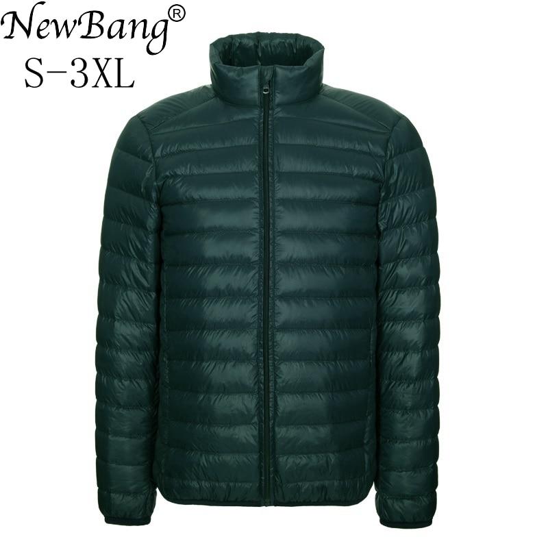 NewBang Brang Men's Down Jacket Ultralight Down Jacket Men Stand Collar Winter Feather Windbreaker Lightweight Warm Thin Parka