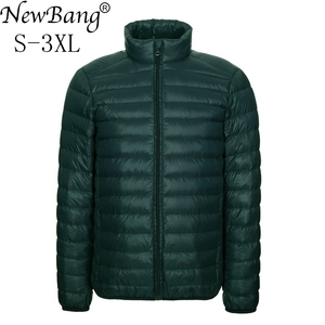 Image 1 - NewBang Brang Mens Down Jacket Ultralight Down Jacket Men Stand Collar Winter Feather Windbreaker Lightweight Warm Thin Parka