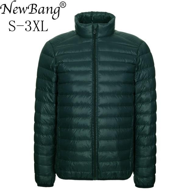 NewBang Brang Mens Down Jacket Ultralight Down Jacket Men Stand Collar Winter Feather Windbreaker Lightweight Warm Thin Parka