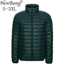 NewBang Brang 男性のダウンジャケット超軽量ダウンジャケットの男性は襟冬羽ウインドブレーカー軽量暖かい薄型パーカー