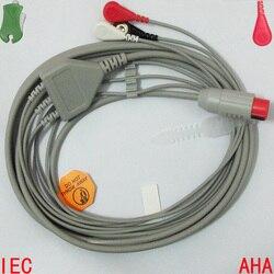 Compatível com 8pin bionet bm3 paciente ecg/ekg monitor com cabo de ligação 3 e leadwire