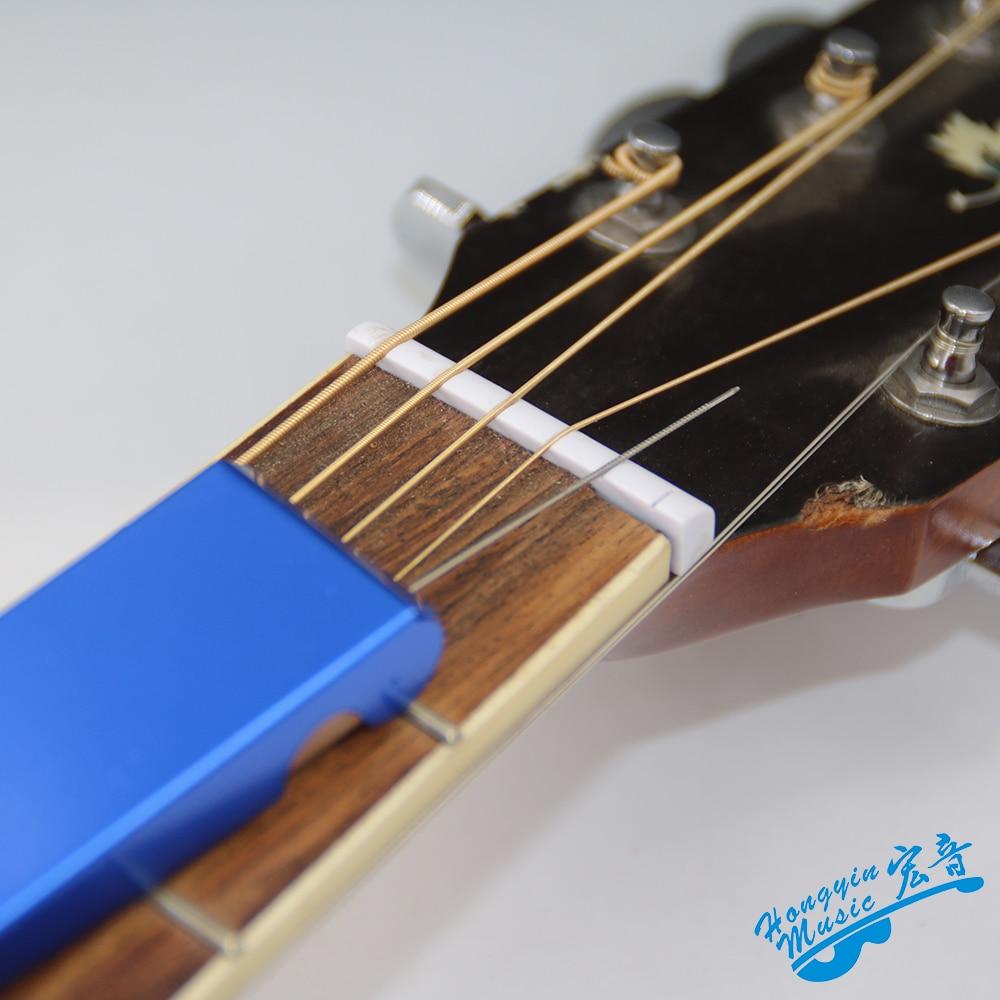 set of 2 Acoustic bridge saddle slot files for guitars