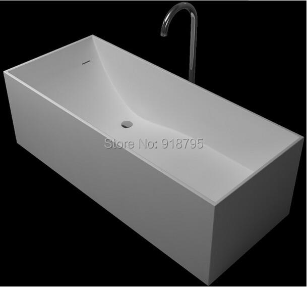 1700x720x540mm Solid Surface Stone CUPC Approval Bathtub Rectangular ...
