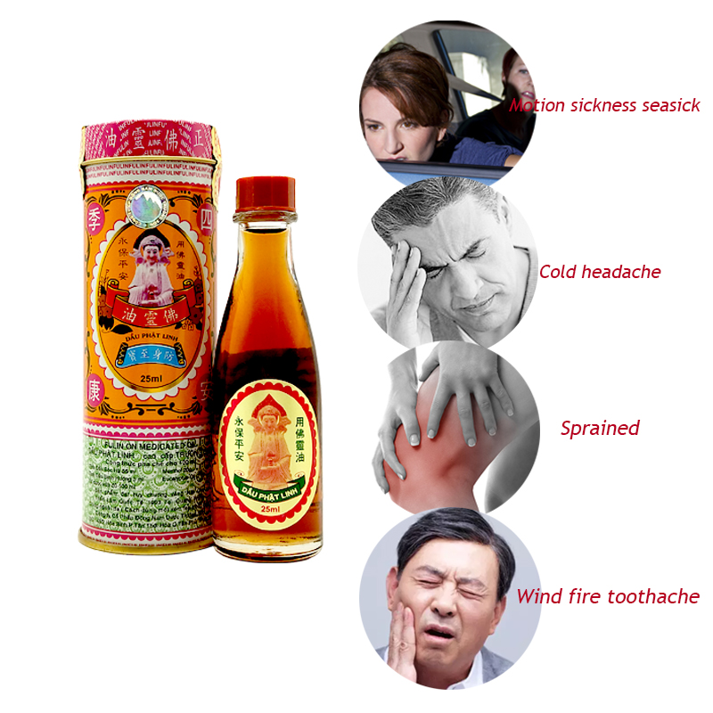 25ML Vietnam Buddha  Ointment Oil For Headache Toothache Stomachache Dizziness Back Pain Active Oil Plaster Tiger Balm Ointment