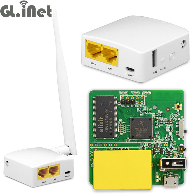 GL-AR150 AR9331 802.11n 150Mbps WiFi Wireless Router WiFi Repeater OPENWRT Firmware External/Internal Antenna Support POE Module