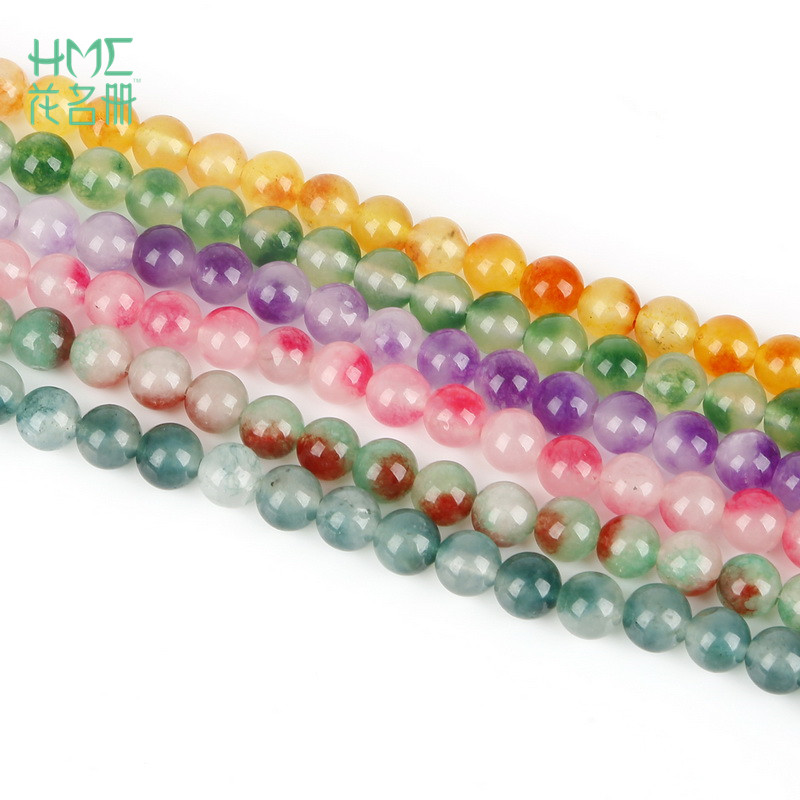 NEW IN 8MM 10MM RAINBOW//DOT COLOURS ROUND WOODEN BEADS FOR JEWELLERY MAKINMG