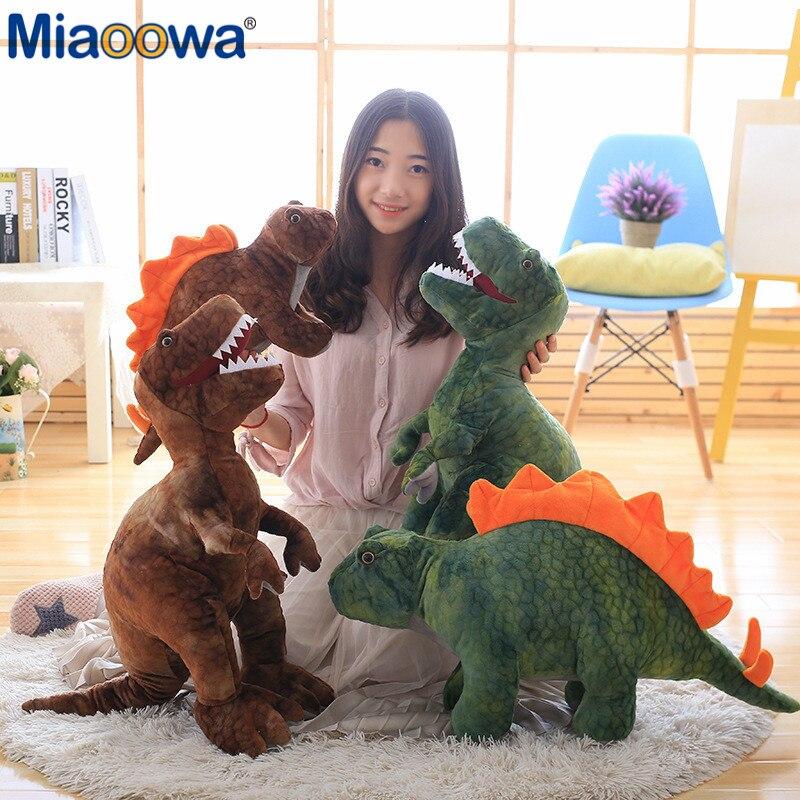 50cm-80cm Simulation Dinosaur Plush Toys Stuffed Animals Plush Dinosaur Pillow Tyrannosaurus Rex Dolls Kids Girls Gifts