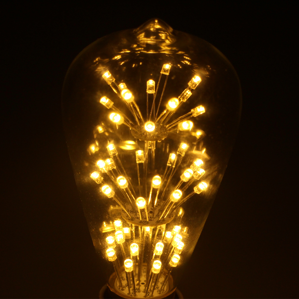 4W ST64 LED Filament bulb E27 Warm white Edison Light Bulbs 220V Squirrel Cage Vintage Style Replace Incandescent Lamp Bombilla high brightness 1pcs led edison bulb indoor led light clear glass ac220 230v e27 2w 4w 6w 8w led filament bulb white warm white
