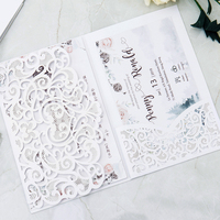 100set lot Printing Laser Cutting Invite card Anniversary Graduation Birthday Party invitation wedding Invitations whoelsale