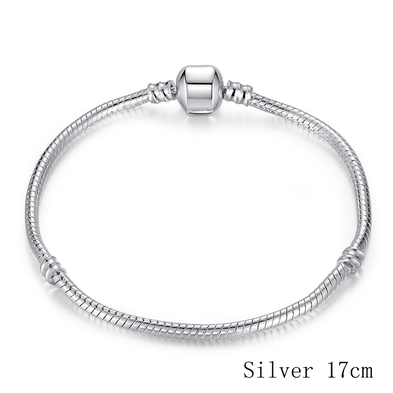 HOMOD 6 Style Dropshipping 3mm Diameter 17 21cm Silver Color Diy Snake Chain Brand Charm Bracelets For Women Jewelry Gifts in Charm Bracelets from Jewelry Accessories