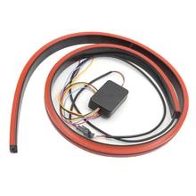 100cm Car Tail Strip Light 3030 144LED Red Universal LED Running Brake Reverse Turn Signal Tailgate Trunk Lamp,Car Exterior Em