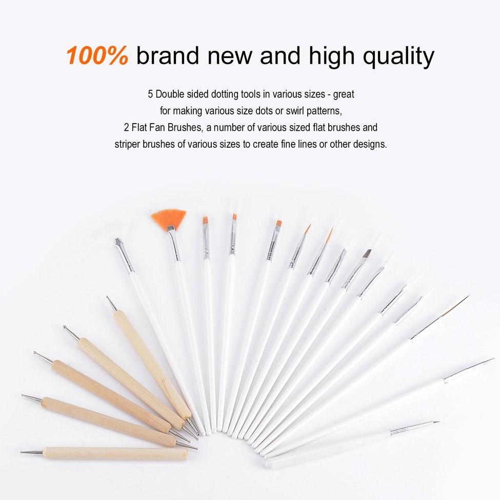 10 pièces UV Gel brosse Liner peinture stylo acrylique dessin brosse pour ongles dégradé strass poignée manucure Nail Art outil