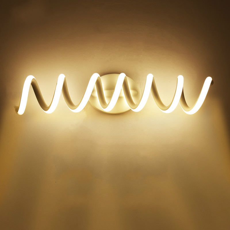 LED wall lamp creative aluminum spiral mirror light bedside lamp bathroom anti-fog mirror cabinet makeup wall light mx5111540LED wall lamp creative aluminum spiral mirror light bedside lamp bathroom anti-fog mirror cabinet makeup wall light mx5111540