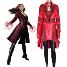 custom Captain America 3 Civil War adult women superhero cosplay suit halloween Scarlet Witch costume Red WandaMaximoff Uniform