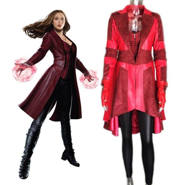 custom Captain America 3 Civil War adult women superhero cosplay suit  halloween Scarlet Witch costume Red - Aliexpress.com : Buy Custom Captain America 3 Civil War Adult