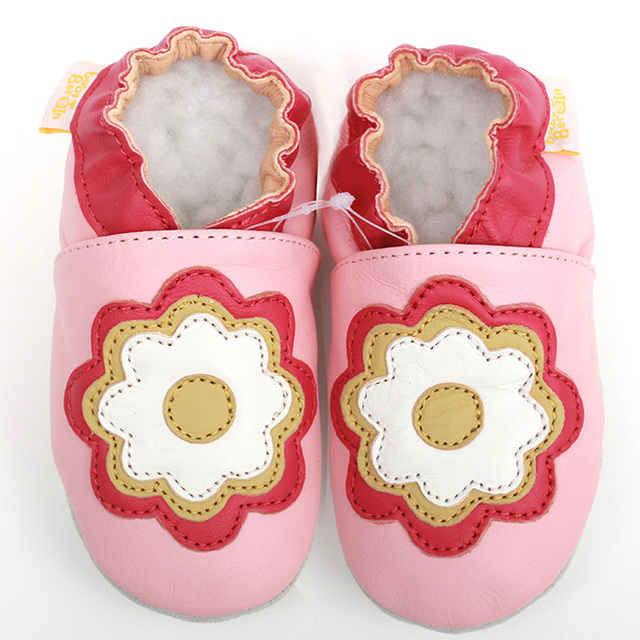 Baby Moccasins Leather Baby Shoes Girls Soft Sole Flower First Walkers Baby Girl Shoes Infant Kids  Toddler Slipper chaussure