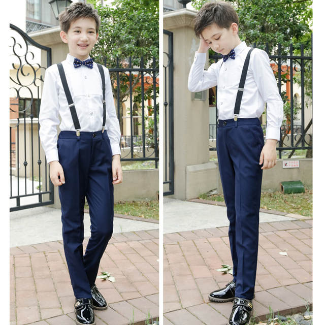 cde286ae9747 Online Shop ActhInK New Big Boys Wedding Overall Suits with Bowtie ...