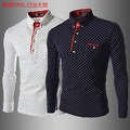 2015 trade foreign boutique shirt style long sleeve slim dot DP 751930