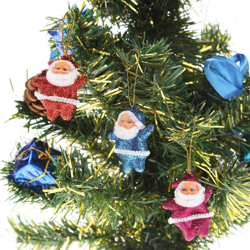 Colorful Christmas Tree Decorations.Us 0 53 18 Off 6pcs Colorful Merry Chrismas Tree Decorations Santa Claus Pendant Christmas Ornaments Xmas Gifts Tree Hanging Navidad Decoration In