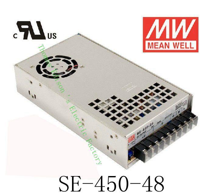 450W 48V 9.4A  power suply unit ac to dc power supply SE-450-48 Original MEANWELL450W 48V 9.4A  power suply unit ac to dc power supply SE-450-48 Original MEANWELL