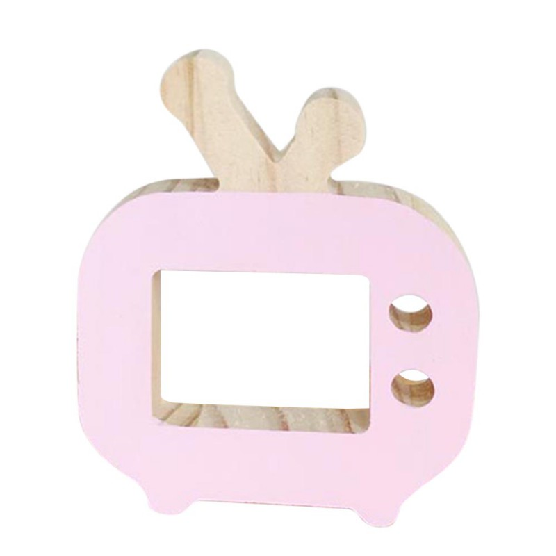 Home Decor Wooden TV toy ornaments Nordic wind furniture Creative Kids Children Room Decoration Toys Props Gift 2018