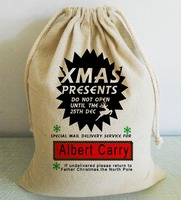 Uique Customized Christmas Santa Sack With Drawstring Alternative Patry And Home Decorations Xmas Stockings Grft Holders