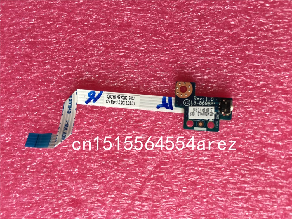 Genteel Original And New For Lenovo Ideapad Y500 Y510p Series Power Switch Board Power Button With Cable Qiqy5 Ls-8698p To Be Highly Praised And Appreciated By The Consuming Public Computer & Office