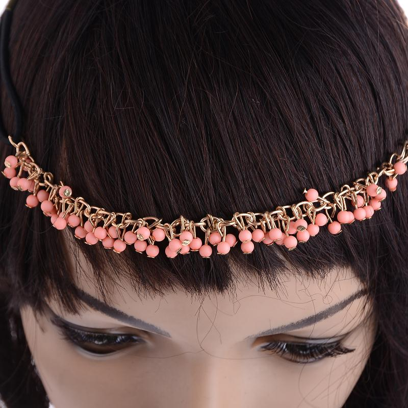 1 Stücke Frauen Fashion Metal Head Kette Stirnband Neue Stil Haar ...