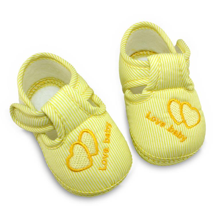 0-12 Months Baby Girls Cotton Lovely Shoes Toddler Unisex Soft Sole Skid-proof Kids Infant Shoe 3 Colors