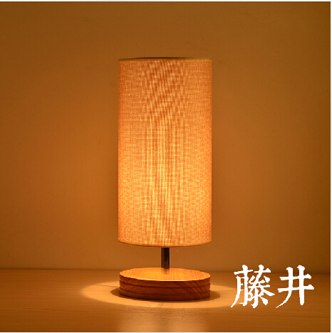 Free Shipping Fabric Shade And Base Wood Modern Restaurant Table LightsSimple Wooden Desk Lighting/Table Lamp/Lights Decoration free shipping modern dining table designs discount lamp shades