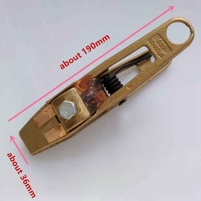 Welding Clamp 600A Ground Clamp Heavy Duty Earth Clamp For Welding/Cutting/Electrical Transaction Cable Holder Full Copper Bod