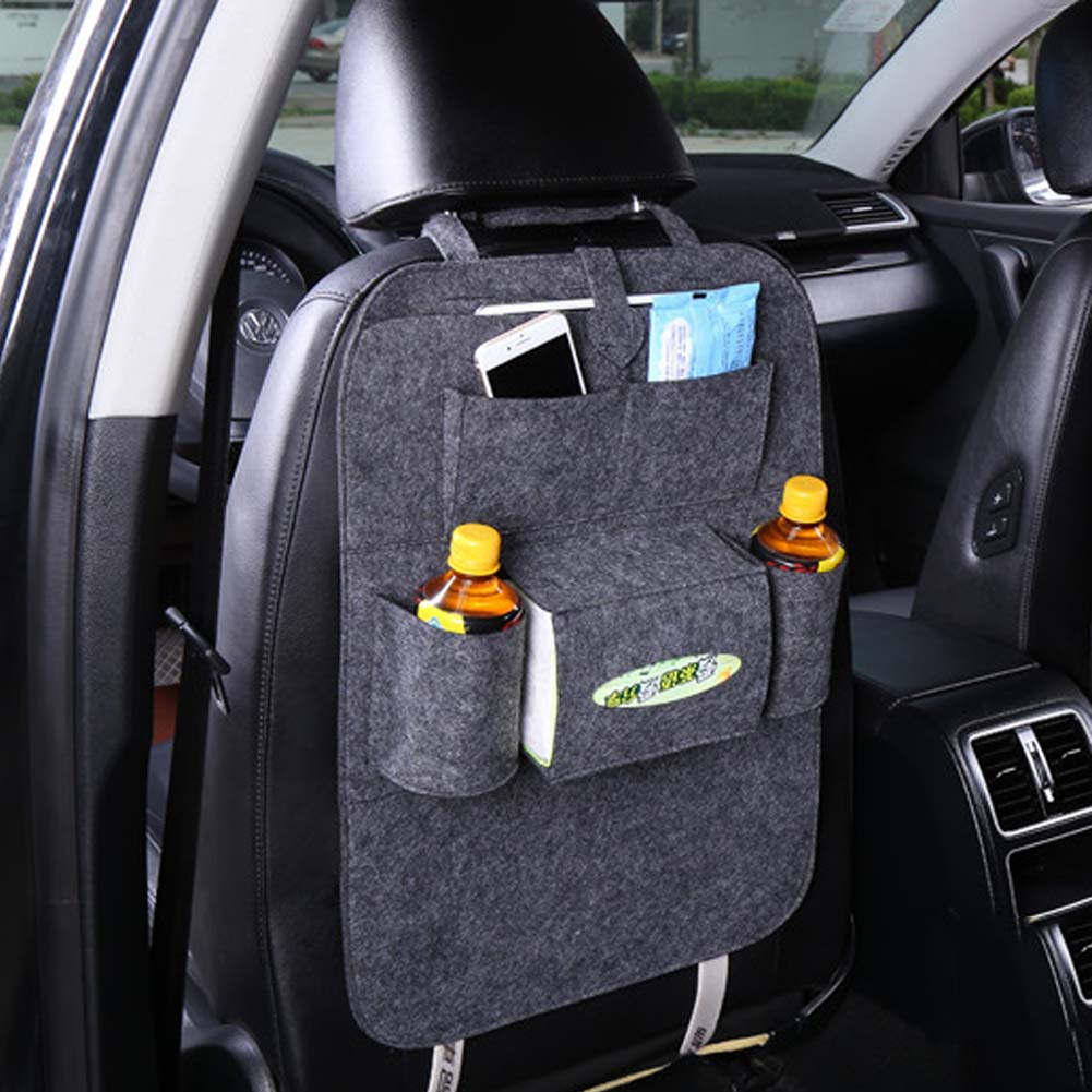 1PC Car Storage Bag Universal Box Back Seat Bag Organizer Backseat Holder Pockets Car-styling Protector Auto Accessories For kid genuine leather car storage bag organizer universal back seat bags backseat trunk travel holder box pockets protector for kids