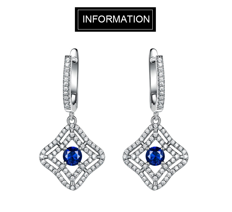 Honyy Sapphire 925 sterling silver jewelry set for women S023S-1 (1)