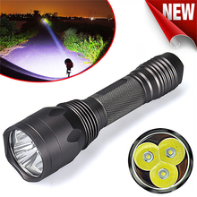 15W powerful led Flashlight 3T6 CREE LED Torch 18650 Lampe Portable Handheld Tactical LED Torch Outdoor Camp Lanterna Bike Light