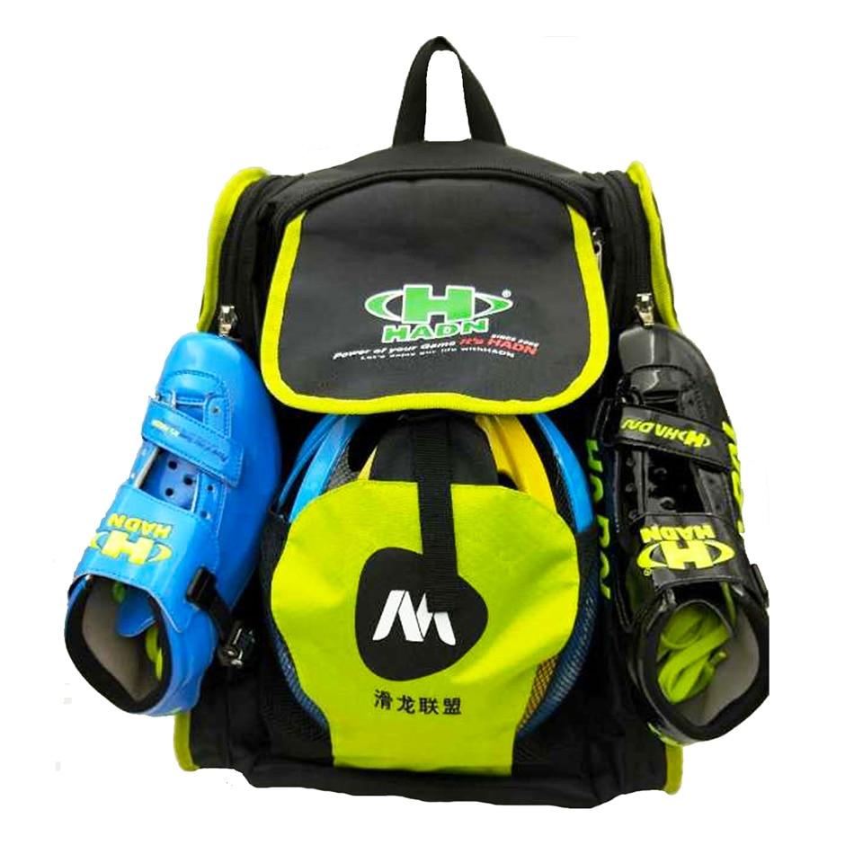 Sac à dos professionnel de patin de vitesse pour le sac de chaussure de patinage en ligne avec le conteneur de casque de tête 4*110mm roues de patin couvrent le sac de Camping