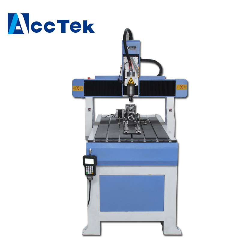 Small Wood Engraving Machine, Foam Cutting 4 Axis CNC Router AKM6012