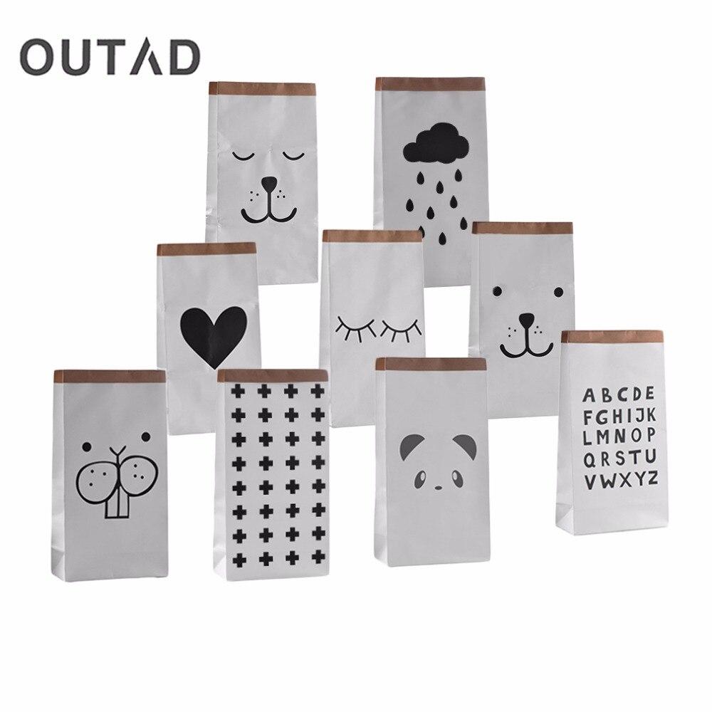 Rajzfilm nehéz kraft papír tároló táska gyerekek játék ruházat táska Sundries szervező tároló táska mosoda táska lakberendezés DropShipping