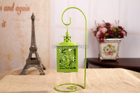 Free Shipping zakka grocery Continental green Iron Candlestick creative ornaments home decoration