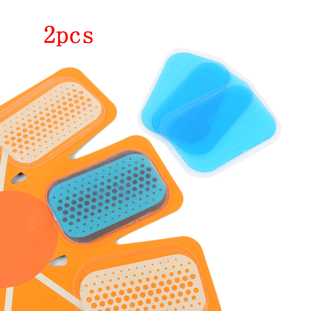 2pcs Replacement Gel Stickers Patch Pads Silicone Hydrogel Mat For Wireless Smart Abdominal Muscles Training Body Massager