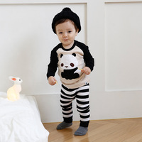 1 Set Baby Pajamas Children S Keep Warm Soft Cotton Home Service Suits Boys Girls Striped