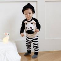 1 Set Baby Pajamas Children S Keep Warm Soft Cotton Home Service Suits Boys Girls Striped