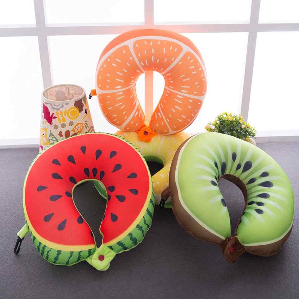 Fruit U Vormige Kussen Kussen Nanodeeltjes Hals Watermeloen Citroen Kiwi Oranje Kussen Auto Reiskussen