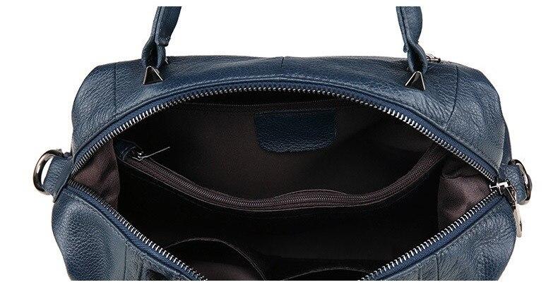 MJ Women Genuine Leather Handbag Female Real Cow Leather Tote Bag Ladies Large Capacity Shoulder Bag Crossbody Bags for Women (5)
