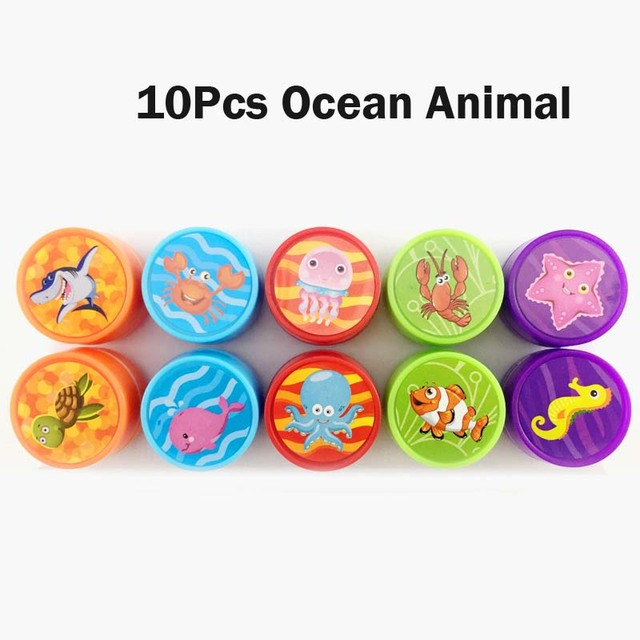 10Pcs Ocean Animals