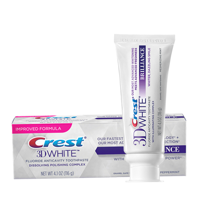 Toothpaste Crest 3D White  Dental Care Oral Hygiene Dentifrice BRILLIANCE Tooth Paste 116g Advanced Teeth Whitening