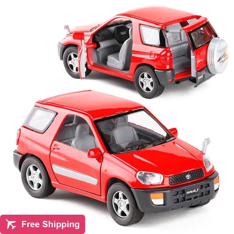High Simulation 1:24 Scale Metal Toyota RAV4 Series SUV Alloy Car Model With Pull Back For Kids Gifts Toy Car Free Shipping