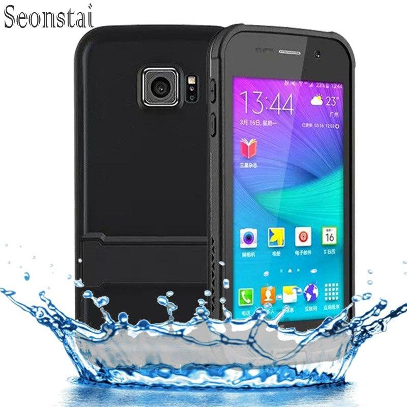 imágenes para Original Para Samsung Galaxy S6 Caso Dirt Choque A Prueba de Agua ip68 cubierta para la Galaxia s 6 G9200 G920f G920i Bolsa Impermeable con soporte