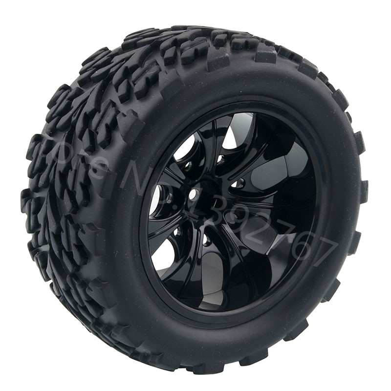 4Piece/Lot RC Rubber Sponge Tires Tyre Rim Wheel Tire For RC 1/10 Scale Models RC Car HSP Off Road Monster Truck